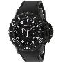 Precimax Men's Carbon Pro Sport PX12207 Black Polyurethane Quartz Watch With Black Dial