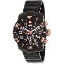 Swiss Precimax Men's Verto Pro SP13043 Black Stainless-Steel Swiss Chronograph Watch With Black Dial