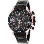 Swiss Precimax Men's Forge Pro SP13247 Black Stainless-Steel Swiss Chronograph Watch With Black Dial